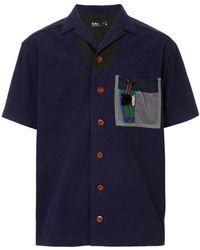 Kolor - Contrast Patch Short-sleeve Shirt - Lyst