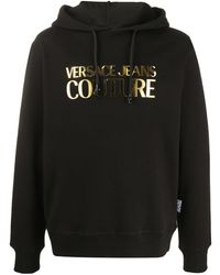 Versace Jeans - メタリックロゴ パーカー - Lyst