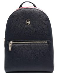 Tommy Hilfiger Essence Pebble-texture Backpack - Blue