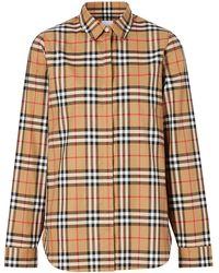 Burberry チェック オーバーサイズシャツ - マルチカラー