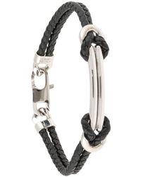 Giorgio Armani Woven Rope Bracelet - Black