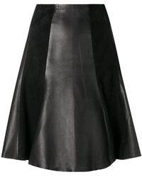 Karl Lagerfeld - Panelled A-line Skirt - Lyst