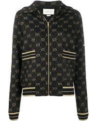 Gucci Embroidered GG Logo Hoodie - ブラック
