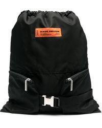 Heron Preston Logo-patch Backpack - Black