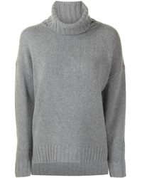 Nili Lotan Roll Neck Cashmere Jumper - Grey