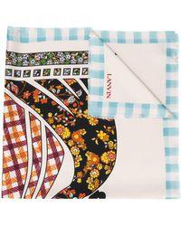 Lanvin Graphic Print Scarf - Multicolor