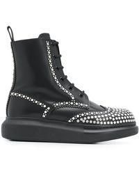 Alexander McQueen Ботинки Hybrid С Заклепками - Черный