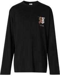 Burberry コントラストロゴ Tシャツ - ブラック