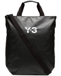 Y-3 Bolso shopper con logo - Negro