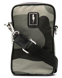 Neil Barrett Camouflage-print Messenger Bag - Green