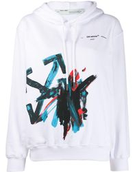 Off-White c/o Virgil Abloh Oversized Hoodie - Wit