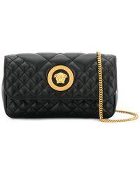 Versace Quilted Medusa Crossbody Bag - Black