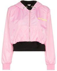 Natasha Zinko - Nz Kurtka Print Double Layered Cotton Hoodie Jacket - Lyst