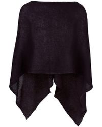 Al Duca d'Aosta - Sheer Knitted Short Cape - Lyst