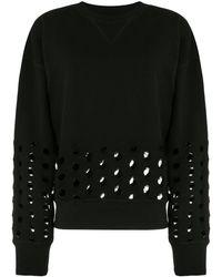 Maison Margiela カットアウト スウェットシャツ - ブラック
