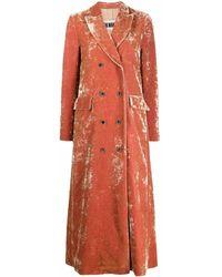 Uma Wang Manteau croisé en velours - Orange