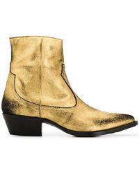 Amiri - Western Metallic Boots - Lyst