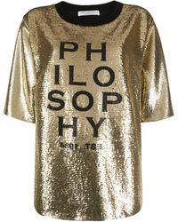 Philosophy Di Lorenzo Serafini - スパンコール Tシャツ - Lyst