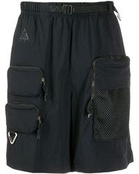 Nike Shorts Met Cargozak - Zwart