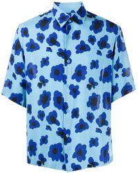 Sandro Chemise à fleurs - Bleu