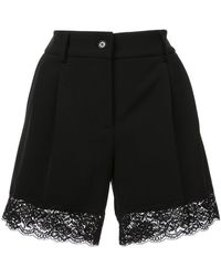 Moschino - Lace Trimmed Shorts - Lyst