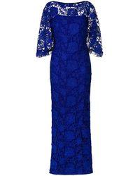 Lauren by Ralph Lauren Long Lace Gown - Blue