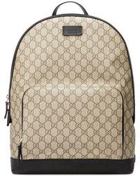 9ca616b5ae53 Gucci Kingsnake Print Gg Supreme Backpack - Lyst