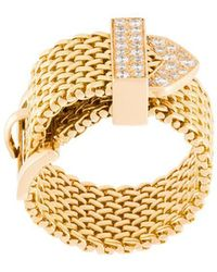 Aurelie Bidermann - 'polonaise' Couture Diamond Ring - Lyst