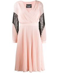Boutique Moschino プリーツ ドレス - ピンク
