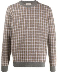 Altea - Houndstooth Long-sleeve Jumper - Lyst