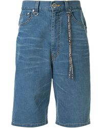 MASTERMIND WORLD Denim Shorts - Blue