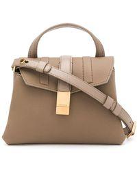 Agnona Medium Tote Bag - Brown