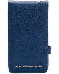 Want Les Essentiels De La Vie Phone Case - Blue