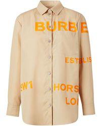 Burberry - Рубашка С Принтом Horseferry - Lyst