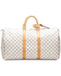 Louis Vuitton 2008 Pre-owned Damier Azur Keepall Bag - White