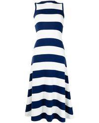 Polo Ralph Lauren Vestido largo a rayas - Azul
