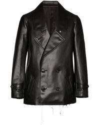 Comme des Garçons Double-breasted Faux Leather Jacket - Black