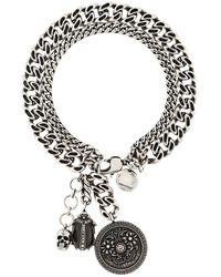 Alexander McQueen Armband Met Kristallen Amulet - Metallic