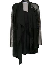 Mara Mac Sheer Coat - Black
