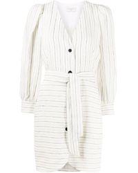 Sandro Striped Shirt Dress - ホワイト