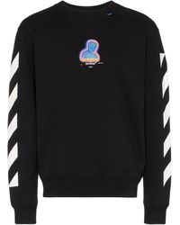 Off-White c/o Virgil Abloh Gestreepte Sweater - Zwart