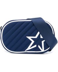 Perfect Moment Star Patch Quilted Belt Bag - Blue