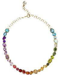 Dolce & Gabbana Колье С Кристаллами - Металлик