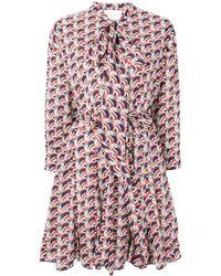 LaDoubleJ Short printed shirt dress - Rosso