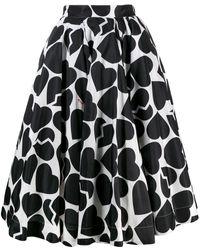 MSGM ハートプリント スカート - ブラック