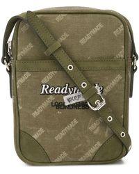 READYMADE Logo Print Messenger Bag - グリーン