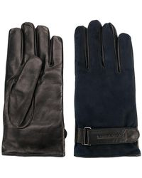Emporio Armani - Contrast Fitted Gloves - Lyst