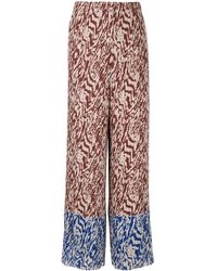 Solace London Nevya Animal Print Pants - Brown