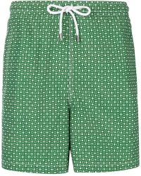 Kiton - Printed Swim Shorts - Lyst