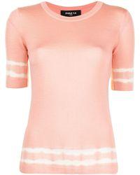 Paule Ka Tie Dye Stripe Sweater - Pink